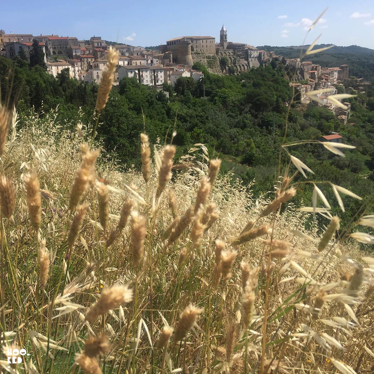 Views of the town of Civitacampomarano, Italy