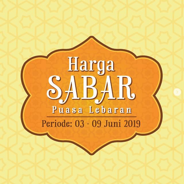 #Yogya - #Promo #Katalog Harga SABAR Periode 03 - 09 Juni 2019
