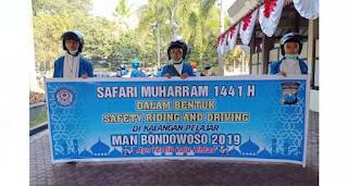 Safari Muharram 1441 H MAN Bondowoso Safety Riding and Driving dikalangan Pelajar