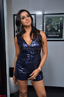 Sanjana looks happy in sparkling short Deep neck Purple Gown ~  Exclusive 42.JPG