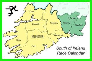 Race Calendar.Running In Cork Ireland Calendar