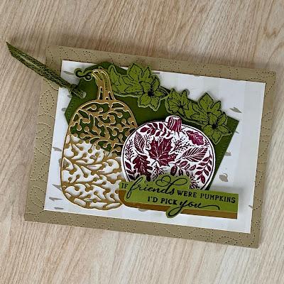 Fall handmade greeting card using Stampin' Up! Pretty Pumpkins Stamp Set