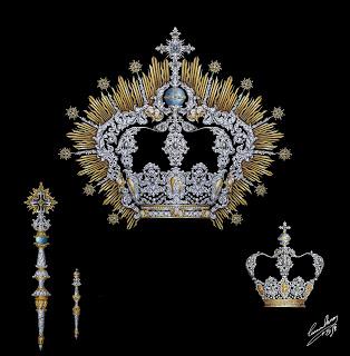 Nuevas coronas y cetros para Nuestra Señora del Rosario de El Palo y su Divino Hijo