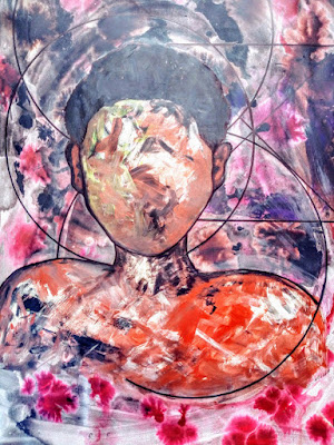 In a Bubble, Abstract Expressionism by Miabo Enyadike