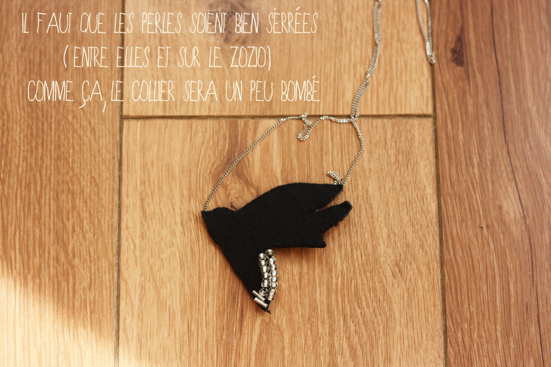 collier shourouk oiseau DIY