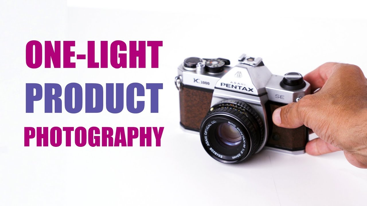 One-Light Product Photography Tips