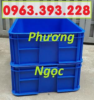 Thùng nhựa đựng linh kiện cao 19, hộp đựng nông sản, sóng nhựa bít HS003 4c4d9b27c1d4238a7ac5