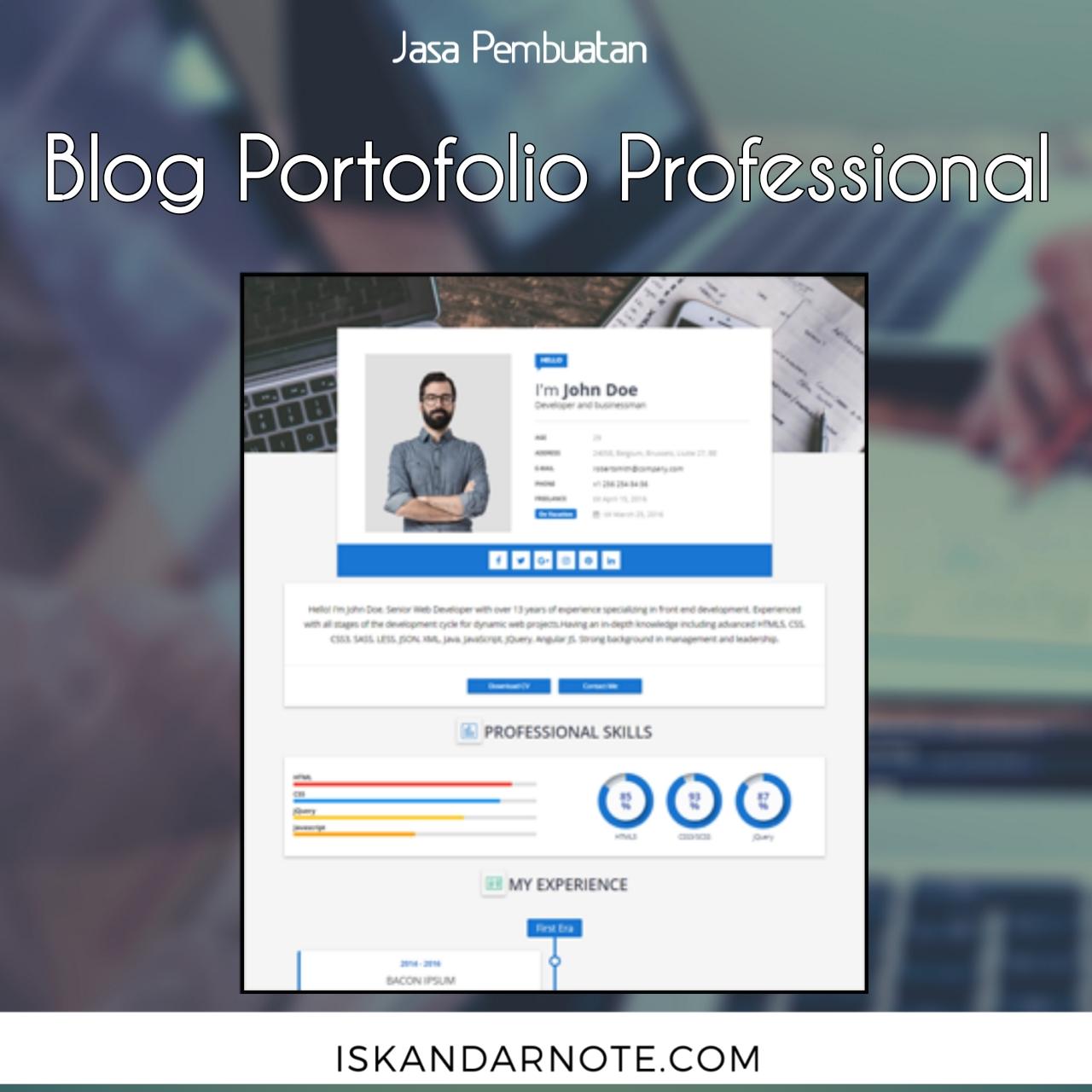 jasa membuat blog professional