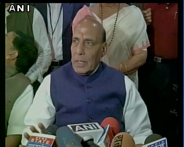 "Minister Rajnath Singh said it had supported the ""anti-national"" incident at JNU.  Addressing media on Sunday afternoon, Rajnath Singh said LET chief Hafiz Saeed had tweeted supporting the incident at JNU in which a few students had shouted anti-India slogans.  @hafeezsaeedJUD was deleted minutes after he made the statement."
