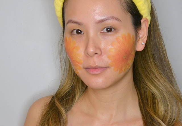 selfie wearing the a by bom ultra night leaf mask
