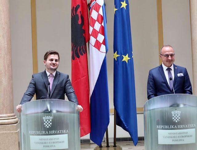 Cakaj incontra la controparte Grlić-Radman; la Croazia è determinata ad aprire i negoziati di adesione con l'Albania