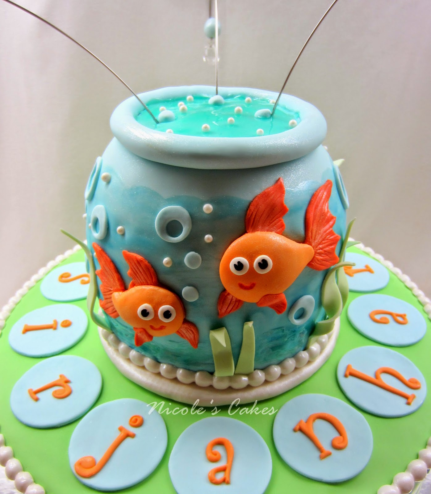 Confections Cakes Creations Goldfish In A Bowl Adorable 1st