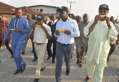 Gov Oshiomhole, and APC  governorship aspirant of Edo State Godwin Obaseki