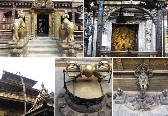 Golden Temple: l'entrata le statue di due elefanti, il tempio e dettagli