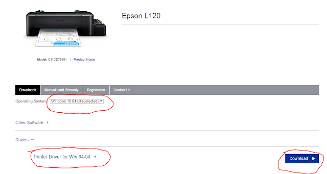 Download driver printer epson L120