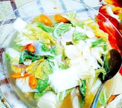 Sayur Sawi Putih Dan Sambal Telur Lauk Dinner Kami