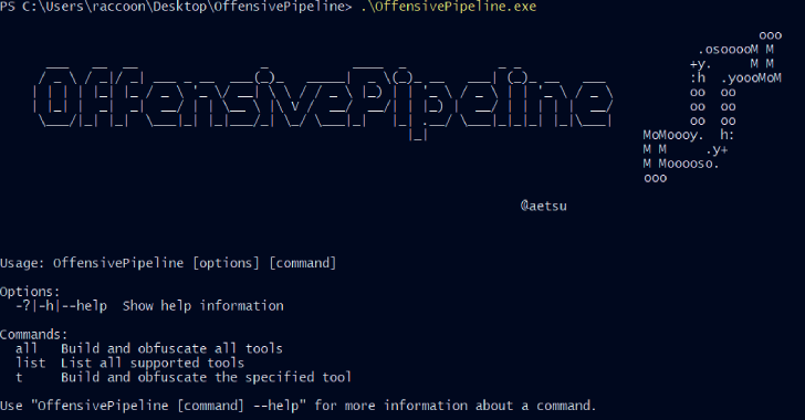 OffensivePipeline : Tool To Download, Compile & Obfuscate C# Tools For Red Team Exercises