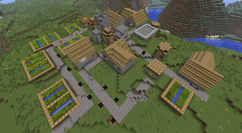 как создать новый мир с деревней в майнкрафте #10