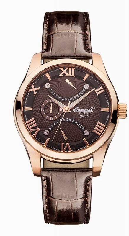 INGERSOLL BURLINGTON BROWN ROSE GOLD INQ017BRRS