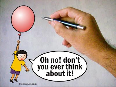 hand draw ballon