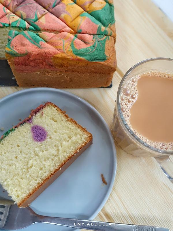 jelita marble buttercake, kek jelita, kek marble jelita, pretty buttercake, soft buttercake, soft marble buttercake