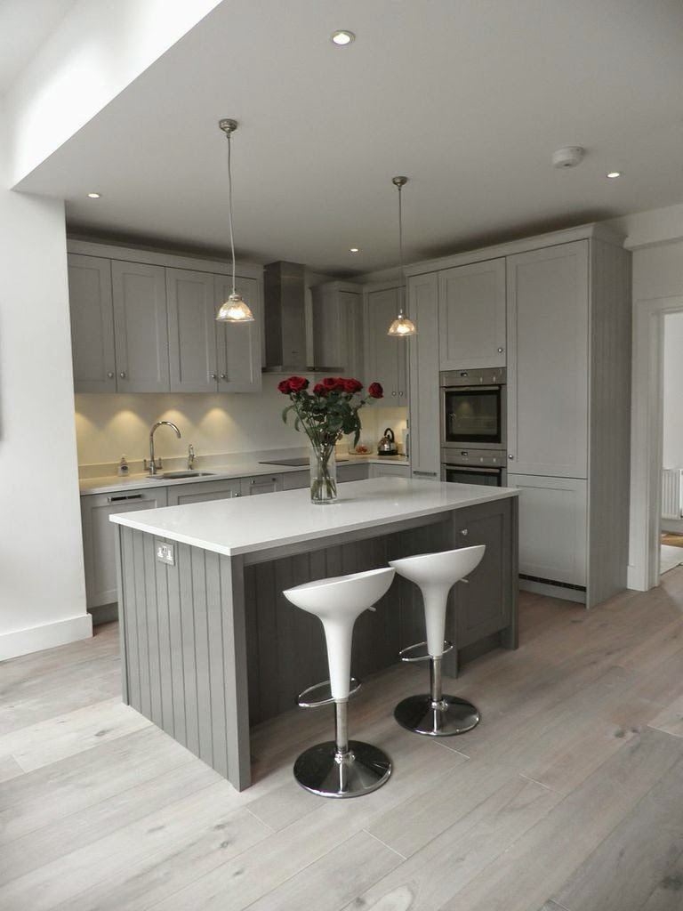 beautiful storm grey shaker kitchen 2276