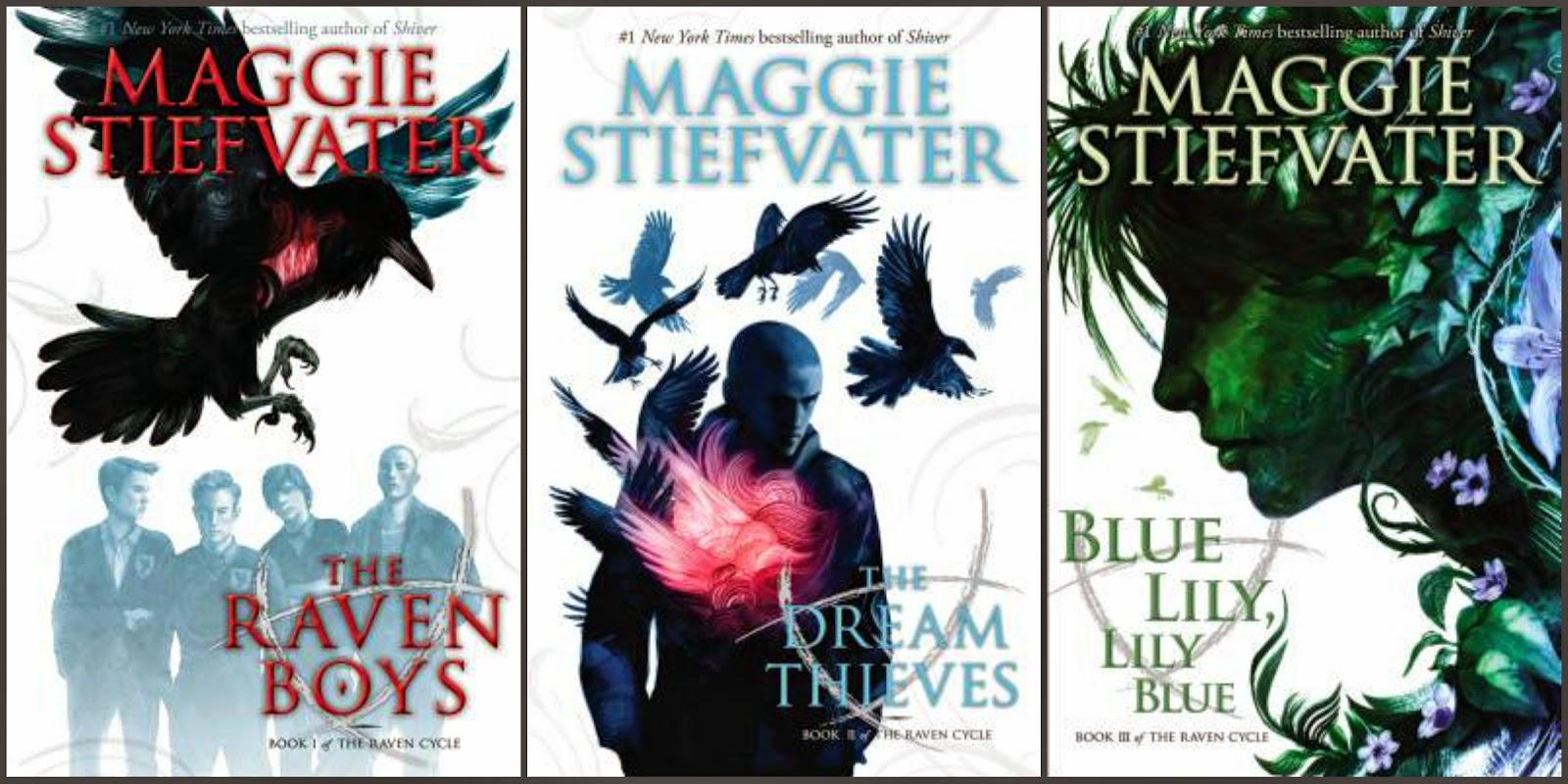 The Raven Boys; The Dream Thieves; Blue Lily, Lily Blue by Maggie Stiefvater