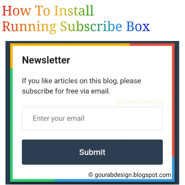 How To Install Stylish Animation Email Subscribe Box In Blogger