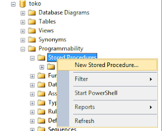 Membuat Stored Procedure Sql Server