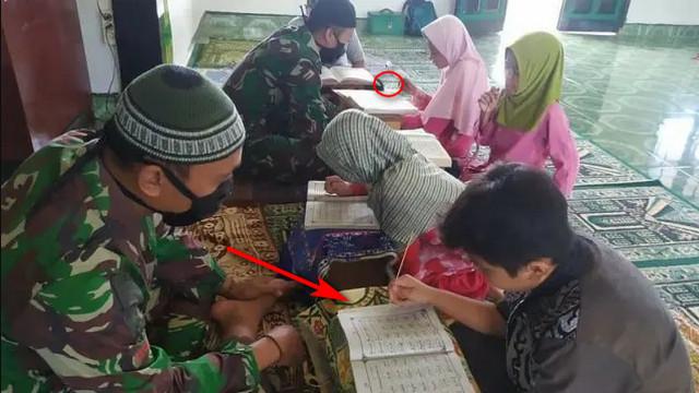 Kisah Prajurit TNI Di Perbatasan: Siang Bawa Senjata, Sore Guru Ngaji