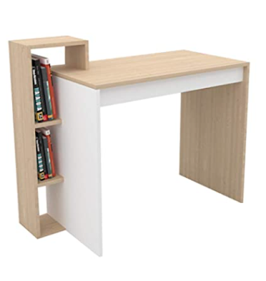 Study Table with Storage Shelves, Space-efficient and Sturdy with Modern Design and High Quality Finish