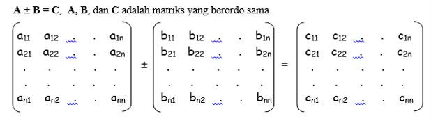 Operasi Penjumlahan dan Pengurangan Matrik ( array 2 dimensi )