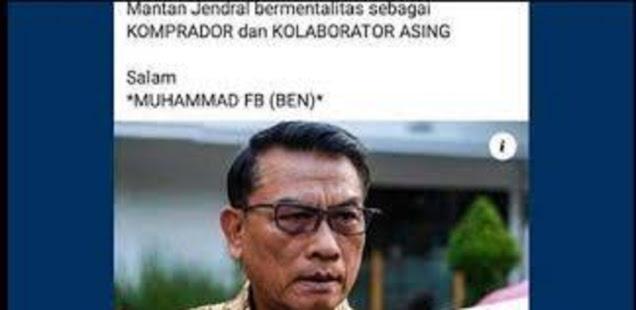 Penghina Moeldoko Ditangkap, Mantan Kasum TNI: Kalo Ada Yang Hina Saya, Bisa Ditangkap Gak Ya?