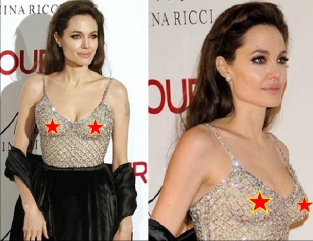 Angelina Jolie com roupa transparente (Imagem: Reprodução/Internet)