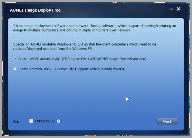 AOMEI Image Deploy : Πώς να εγκαταστήστε τα windows σε  πολλούς υπολογιστές ταυτόχρονα
