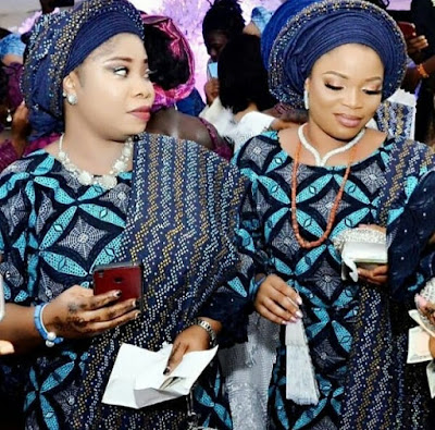 Alaafin of Oyo with all his wives at daughter