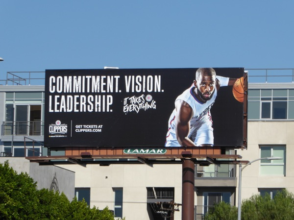 Commitment Clippers basketball billboard