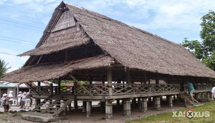Gambar rumah adat Indonesia - Rumah adat Maluku atau Rumah Baileo
