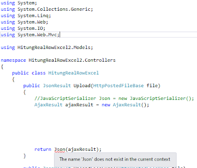 Json C# MVC 4 Visual Studio