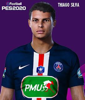 PES 2020 Faces Thiago Silva by Milwalt