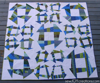 Liberated Churn Dash quilt by Sarah Vanderburgh