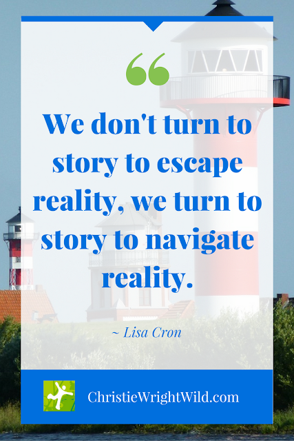 """We don't turn to story to escape reality, we turn to story to navigate reality."" ~Lisa Cron 