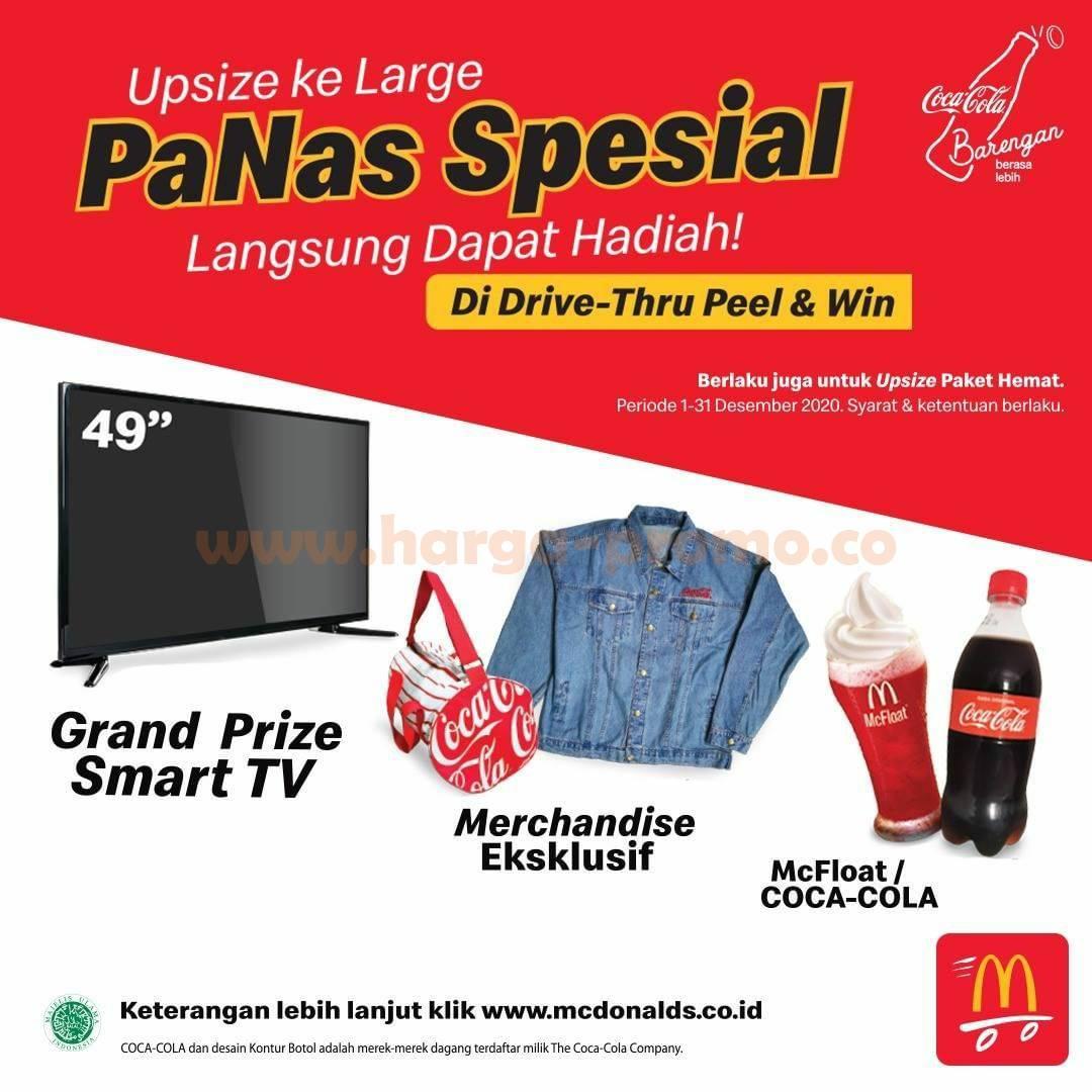 McDonalds Peel & Win Drive Thru – Menangkan Smart TV [hadiah merchandise lainnya]