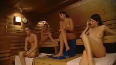 Hidden cam sauna