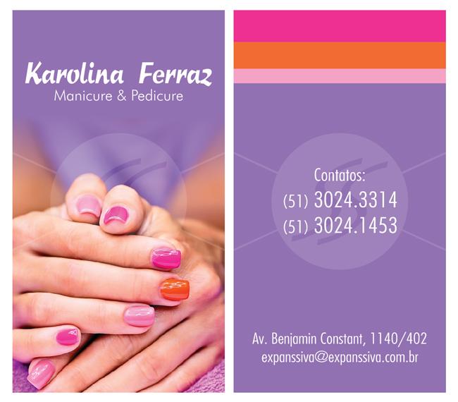 M2395 cartoes de visita manicure - Cartões de Visita para Manicure e Pedicure