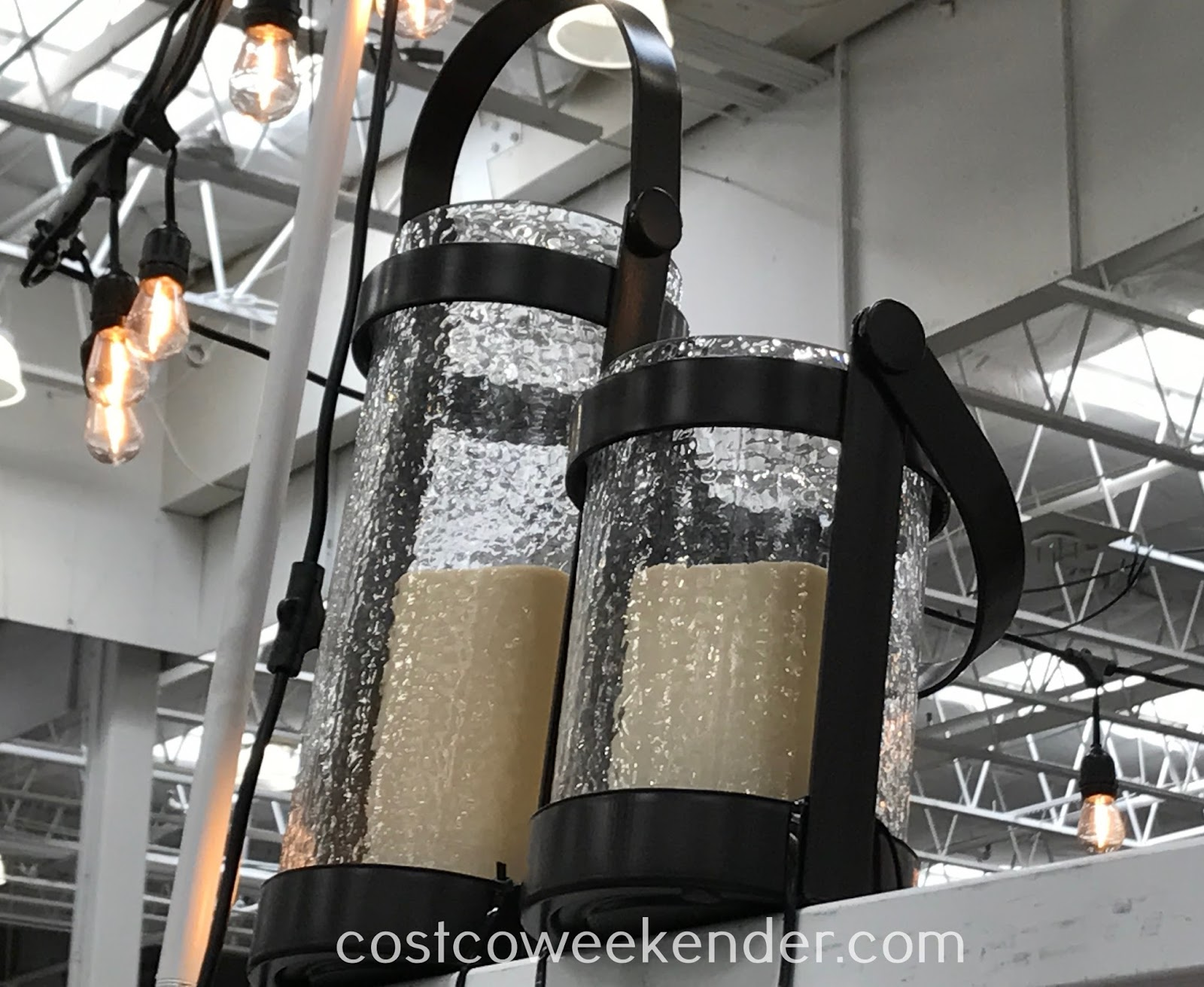 Light up any room with the Inside Outside Garden Hurricane Lanterns