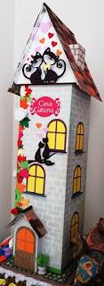 casa de gatos, diy cats, manualidad gatos