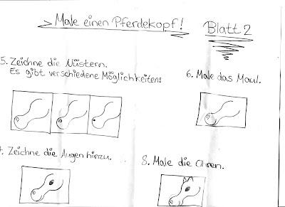 Eine Schritt für Schritt Zeichenanleitung. Kinder die kreativ sein dürfen, stellen sich diese einfach alleine her.