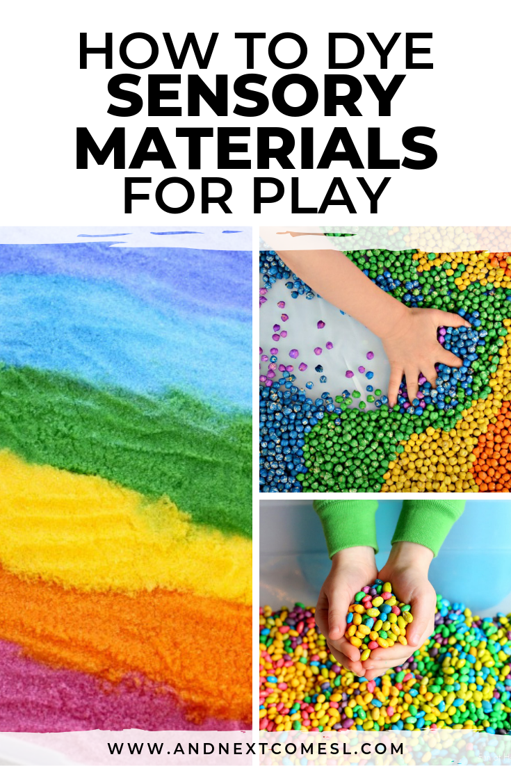 How to dye sensory materials for play