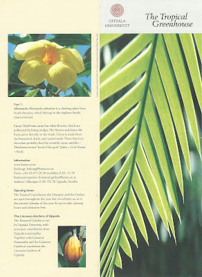 The Tropical Greenhouse Brochure.